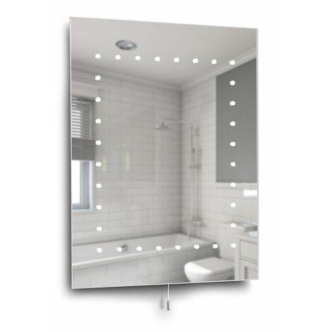 Ultra Slim Illuminated LED Bathroom Bevelled Wall Mirror Light - Ip44