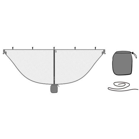 Ultraligero Mosquitera hamaca que acampa al aire respirable Anti-Mosquito Net Mesh Carpa, gris