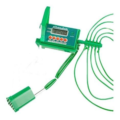Ultranatura Sistema de riego automático y fácil de controlar a través de una pantalla de LCD / riego automático para un máximo de 10 plantas de interior con bomba de agua, ideal como sistema de riego en vacaciones