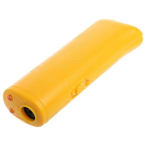 Ultrasonic Dog Training Device Anti Barking Stop Bark Repeller Yellow