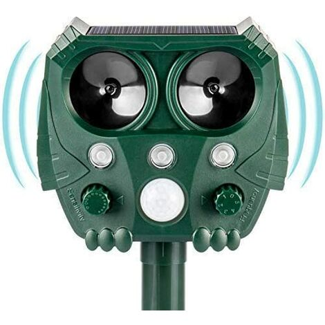 "main image of ""Ultrasonic solar repellent - animal repellent - waterproof - animal repellent - repellent against birds"""