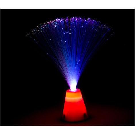 *ult.unidades* luz fibra optica 8 funciones 3xaa 11x11x30cm