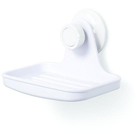 Portasapone Portasaponetta Accessorio Bagno Attacco a Ventosa Bianco Rilux