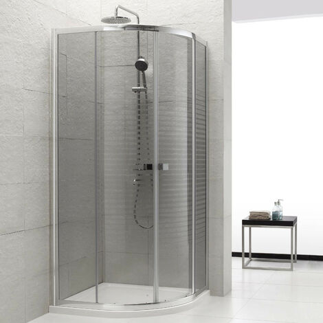 Umbra Mampara de ducha semicircular 80x80