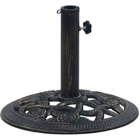 Umbrella Base Black and Bronze 9 kg 40 cm Cast Iron - Black