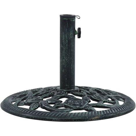 Umbrella Base Green 9 kg 40 cm Cast Iron