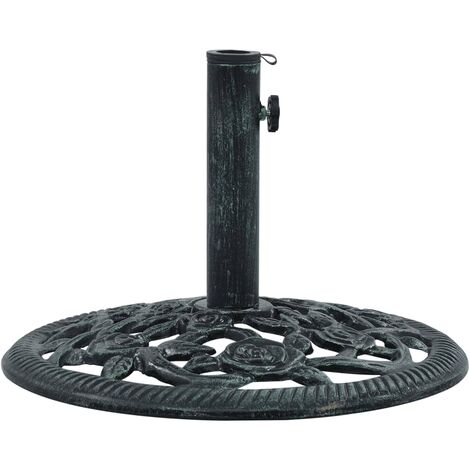Umbrella Base Green 9 kg 40 cm Cast Iron - Green