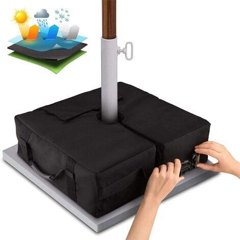 Umbrella Base Weight Bag Des sacs de sable résistants aux intempéries et aux UV jusqu'à 110 livres de sable s'adaptent à tout support de parasol extérieur décalé (carré)