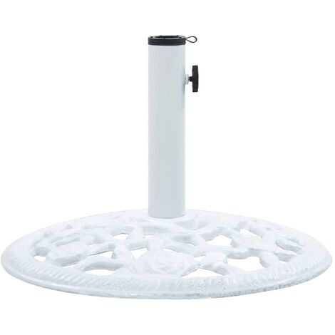 Umbrella Base White 12 kg 48 cm Cast Iron - White
