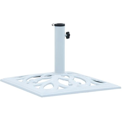 Umbrella Base White 12 kg 49 cm Cast Iron