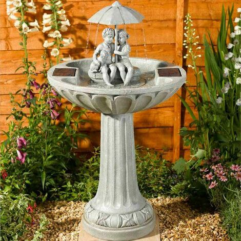 "main image of ""Umbrella Fountain Solar Water Feature"""
