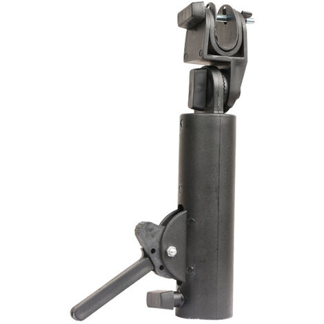 """main image of """"Umbrella Holder Connector Golf Cart Umbrella Stand Accessories Double Lock Angle Adjustable Universal for Golf Cart Baby Stroller Bicycle Wheelchair,model:Black"""""""