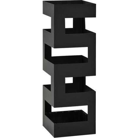 Umbrella Stand Tetris Steel Black