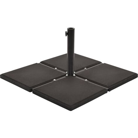 Umbrella Weight Plate Black Concrete Square 12 kg