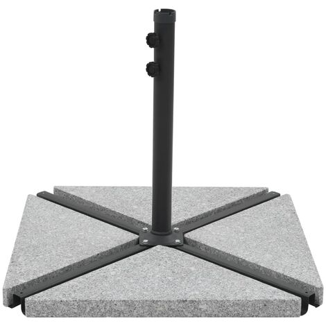 Umbrella Weight Plate Granite 15 kg Triangular Grey