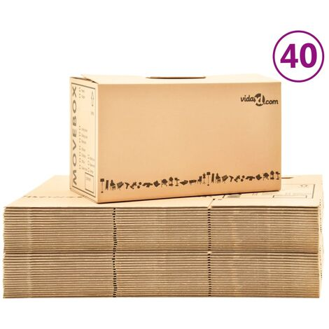 Umzugskartons XXL 40 Stk. 60×33×34 cm