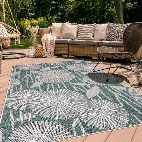 UN AMOUR DE TAPIS AF PARAPLE REVERSIBLE cm Tapis Moderne Tapis Terrasse, jardin Tapis Rectangulaire Tapis Vert