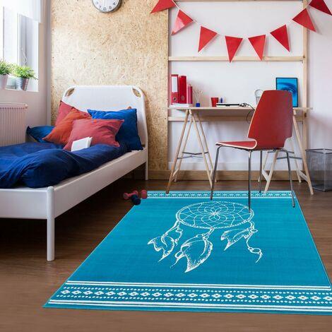 - UN AMOUR DE TAPIS - Tapis Chambre Enfant Moderne Design - Tapis Chambre Bébé Fille Garcon Ado - Tapis Gris
