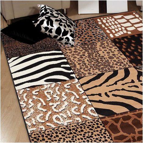 UN AMOUR DE TAPIS - tapis patchwork inspi Af Patchwork Savane - tapis decoration - tapis salon tapis chambre