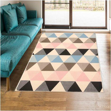 UN AMOUR DE TAPIS - tapis scandinave Scandinave Bc Triangle Pastel - tapis decoration - tapis salon tapis chambre
