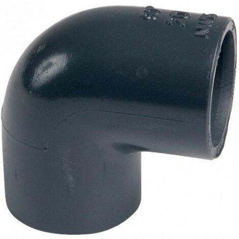Un coude ø 50 mm PVC 90° pression