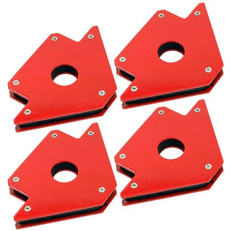 Un ensemble de 4 boites de 50 lb support de soudage magnetique machine a souder aimant fleche 3 soudure de fixation de coin