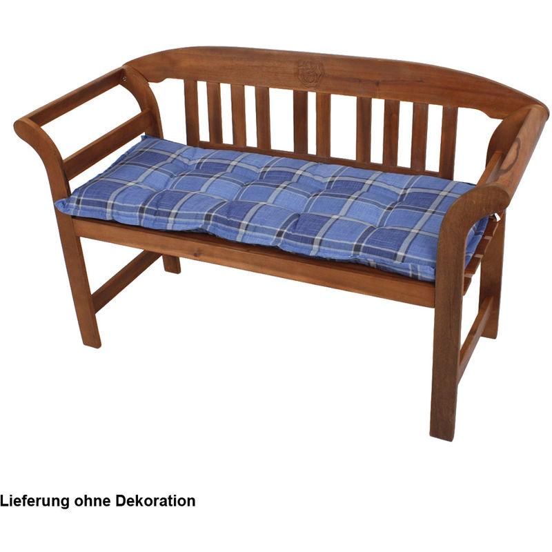 Harms - Grand coussin haute qualité siège chaise jardin polyester coton quadrillé banquette
