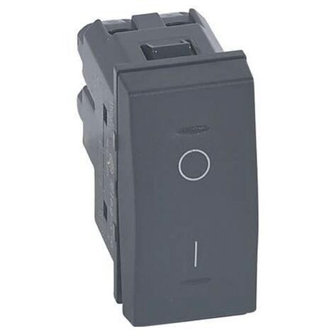 Un interruptor Bipolar Legrand Vela 16A antracita 1 módulo 682740