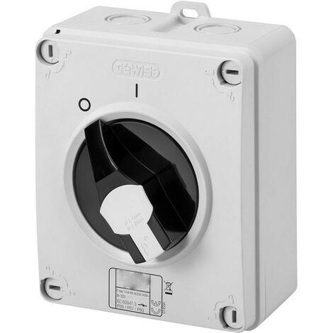 Un interruptor Giratorio Gewiss HP 3X32A de la pared de IP65 GW70405P