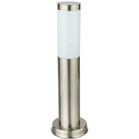 Un lampadaire en acier inoxydable pour l'espace extérieur