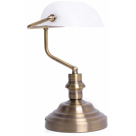 Un luminaire de table en laiton pour bien éclairer votre bureau