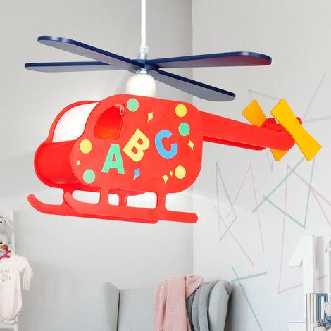 Un lustre hélicoptère pour les enfants
