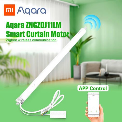 Un motor de persianas Zngzdj11Lm Inteligente Inteligente Cortina de motor ZigBee Smart Home Remote App smarphone Blanca