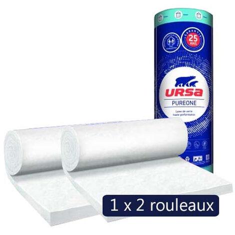 Un paquet de 2 rouleaux laine de verre PureOne 40 QN acoustique - Ep. 45mm - 19,44m² - R 1.10