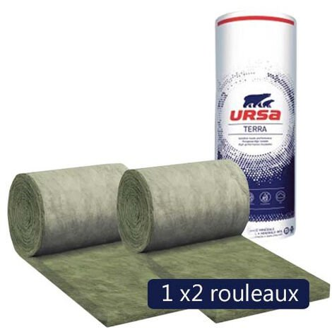 Un paquet de 2 rouleaux laine de verre URSA Façade 32 R - Ep. 181mm - 3,24m² - R 5.65