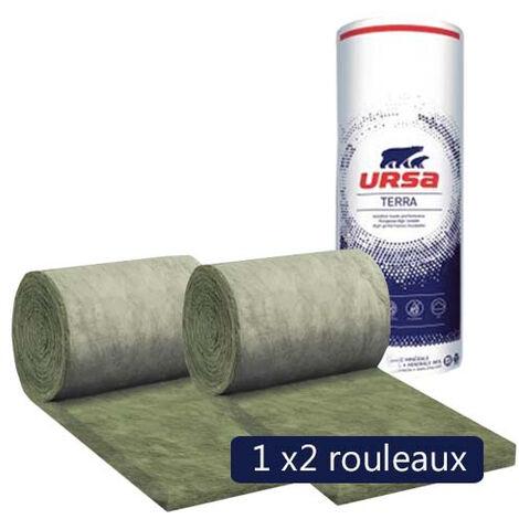 Un paquet de 2 rouleaux laine de verre URSACOUSTIC TERRA nu - Ep. 70mm - 12m² - R 1.75