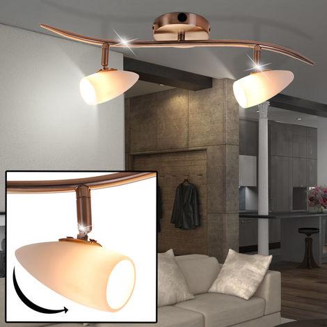 Un plafonnier en nickel mat avec deux spots mobiles pour votre espace intérieur - 5607-2
