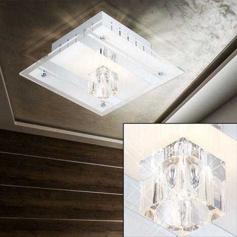 Un plafonnier en verre miroir et metal très élégant pour votre espace intérieur - 40100