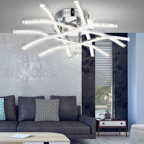 Un plafonnier extravagant avec une lampe Á LED pour votre salle de séjour - 67816