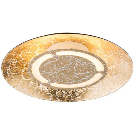 Un plafonnier intérieur à DEL de 6 watts en couleur doré