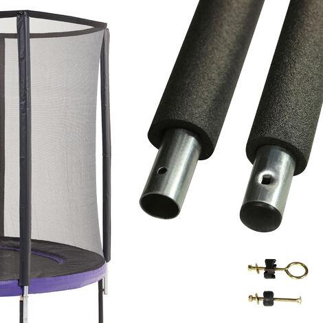 Un poteau de filet de sécurité Ø32mm pour trampolines (longeur 212 cm) - Noir
