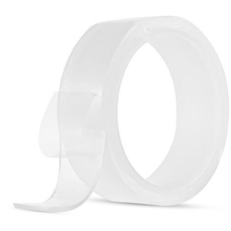Un rouleau de ruban nano non marquant, Velcro transparent, adhesif double face magique non marquant lavable 30 mm * 1 m * 1 mm