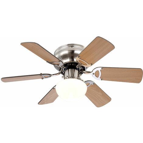 Un ventilateur de plafond avec éclairage pour la maison
