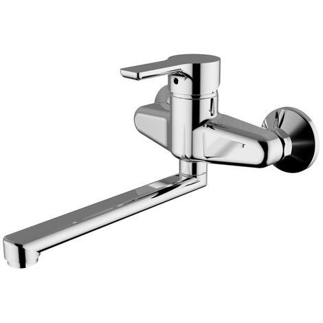 Una sola palanca mezclador de lavabo de pared-Teorema GOODLIFE Chrome 86500110041