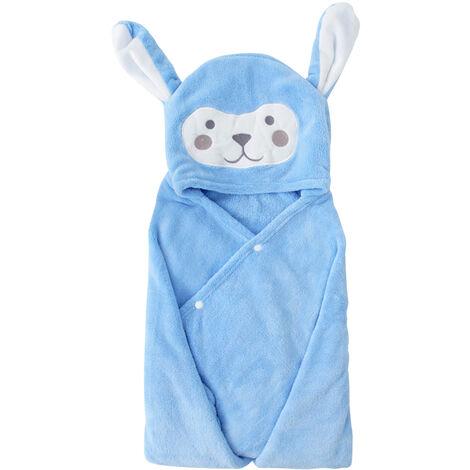 Una toalla de bano de la capilla, para el azul de bebe