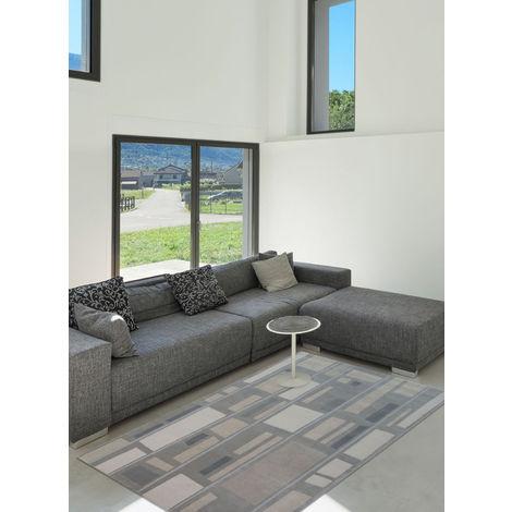Unamourdetapis - Tapis de Salon Moderne Design - BE BOP Gris - Laine Urban carpets 200 x 300 cm