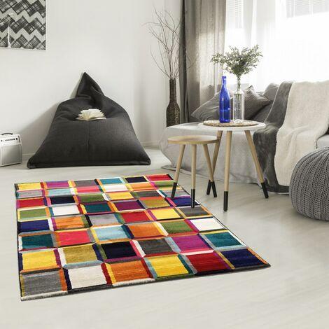 Unamourdetapis - Tapis de Salon tapis Moderne Design - BOUTIK CARRE 3D - Polypropylène