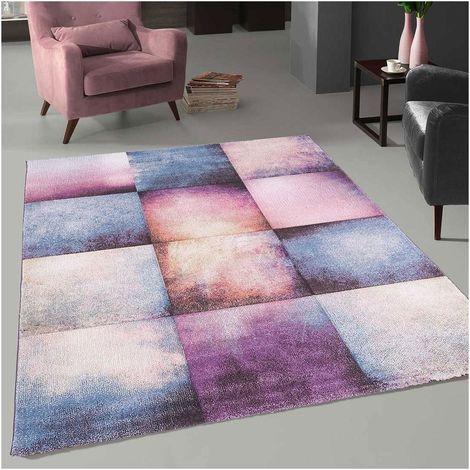Unamourdetapis - Tapis de Salon tapis Moderne Design - CARREAU PASTEL - Polypropylène