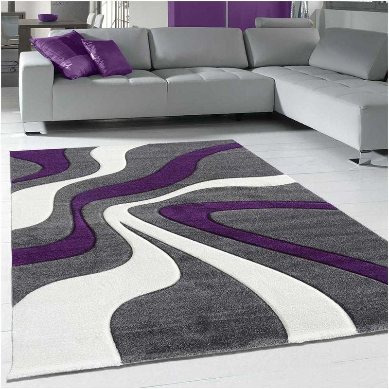 Unamourdetapis - Tapis de Salon tapis Moderne Design - DIAMOND VAGUES -  Polypropylène Jadorel 60 x 110 cm