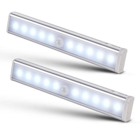 Under Cabinet Lighting Closet LED Light 20 LEDs Wireless Magnetic Motion Sensor Night Lights Wardrobe Counter (2)